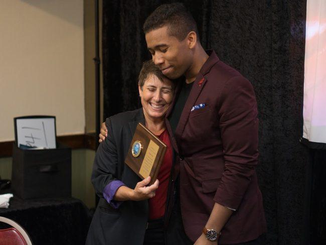 Suzanne Receives Magic Club Award.